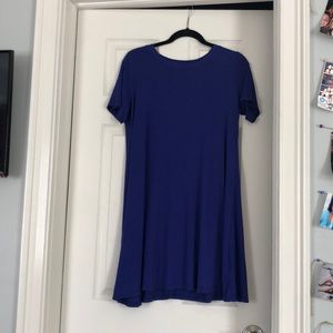 Blue Swing T-shirt Dress